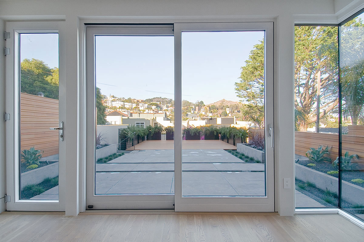 Passive House Castro San Francisco aluminum glazing system high performance back yard access